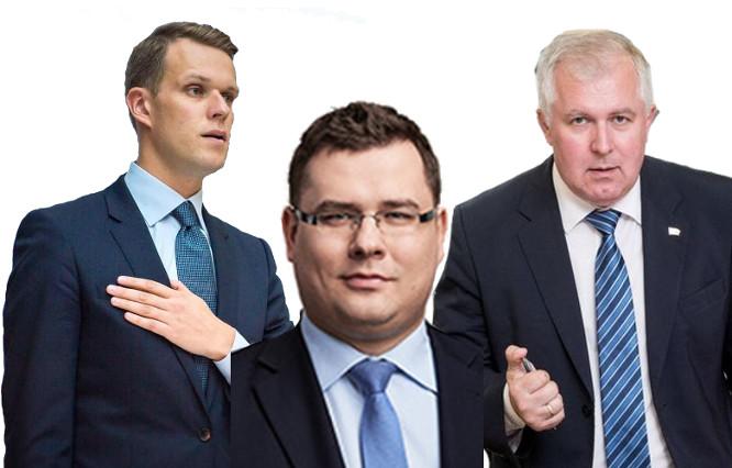 G. Landsbergis, L. Kasčiūnas, A. Anušauskas
