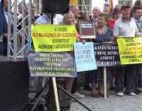 Mitinge, vykusiame prie Karaliaus Mindaugo paminklo, Vilniaus merui R. Šimašiui buvo skirta daug karčių žodžių [video]