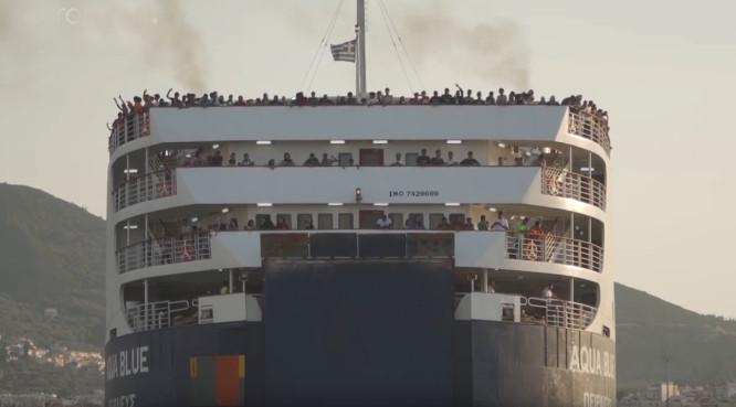 Aqua Blue laivas su nelegaliai imigrantais