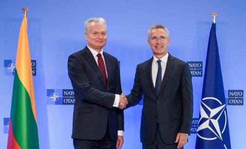 LR Prezidentas informavo NATO Sekretorių apie Lietuvos planus ir toliau didinti gynybos išlaidas