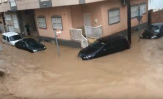 Katastrofiški potvyniai Ispanijoje. Šalyje paskelbtas raudonasis pavojaus lygmuo