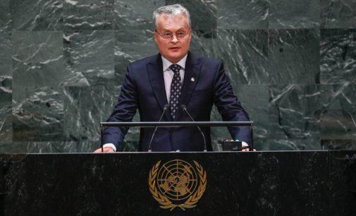 Lietuvos Prezidentas JT Generalinėje Asamblėjoje pasmerkė Rusiją ir pažadėjo, jog Lietuva prisidės prie tarptautinių iniciatyvų