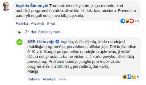 Seimo narės Ingridos Šimonytės komentaras