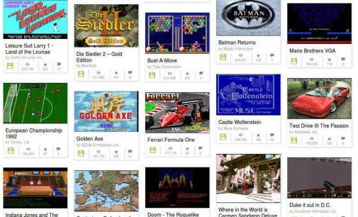 Dovana pasiilgusiems senųjų DOS žaidimų: 7000 populiariausių – tiesiog naršyklėje