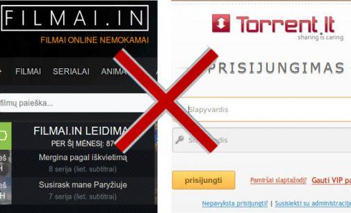 Už internetinį piratavimą, pasak LRTK, bus užblokuotos dvi interneto svetainės