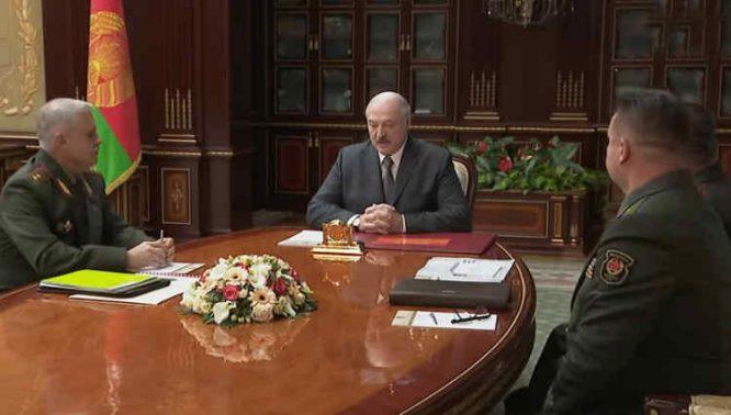 Pasitarimas pas Aleksandrą Lukašenką