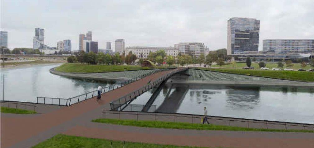 Paaiškėjo kaip atrodys naujasis pėsčiųjų tiltas Vilniuje