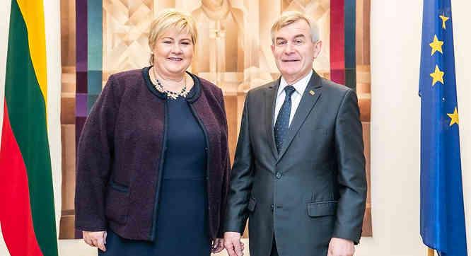 V. Pranckietis ir E. Solberg
