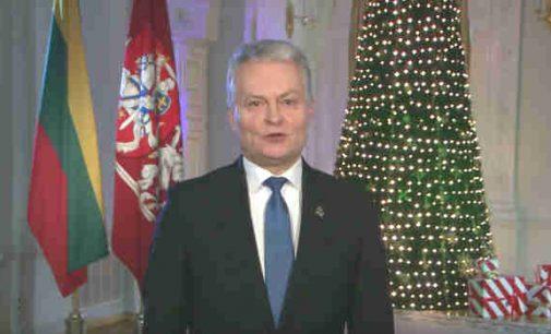 Prezidento Gitano Nausėdos sveikinimas Naujųjų metų proga