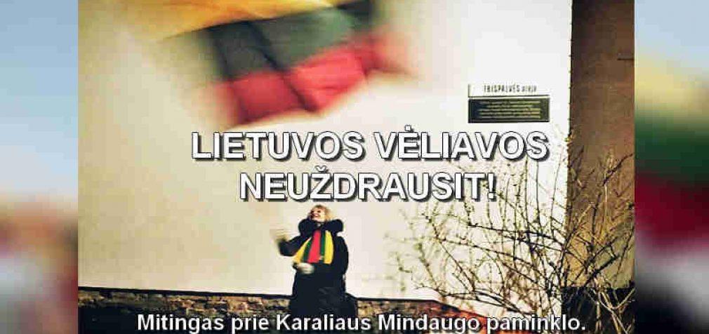 """Vilniuje, prie Karaliaus Mindaugo paminklo rytoj vyks mitingas """"Lietuvos Trispalvės neuždrausit!"""""""