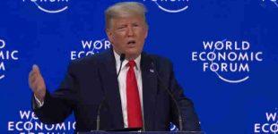 Donaldas Trampas savo kalboje Davose paragino Europą imti pavyzdį iš JAV ir rūpintis savo tautomis