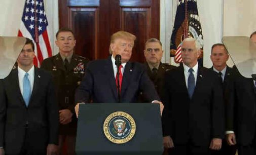 Donaldas Trampas padarė pareiškimą Irano atžvilgiu