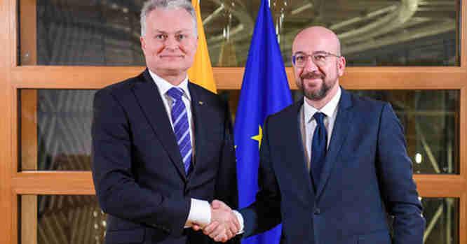G. Nausėda ir Charlesas Michelis