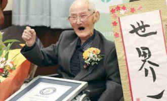 Besišypsantis ilgaamžis japonas tapo seniausiu Pasaulio vyru