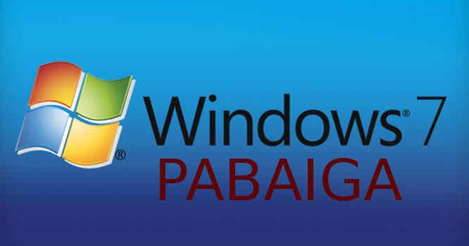 Windows 7 palaikymas pasibaigė