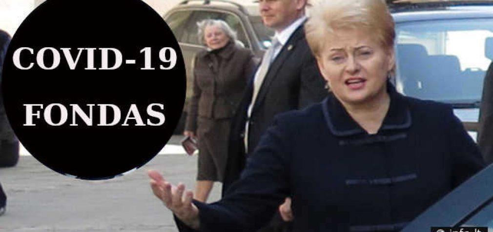 Rinkimai: COVID-19  fondui – siurprizas – vadovauja buvusi prezidentė Dalia Grybauskaitė