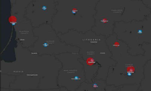 Virtualų žemėlapių rinkinys, skirtas analizuoti įvairius su Covid-19 virusu susijusius statistinius duomenis