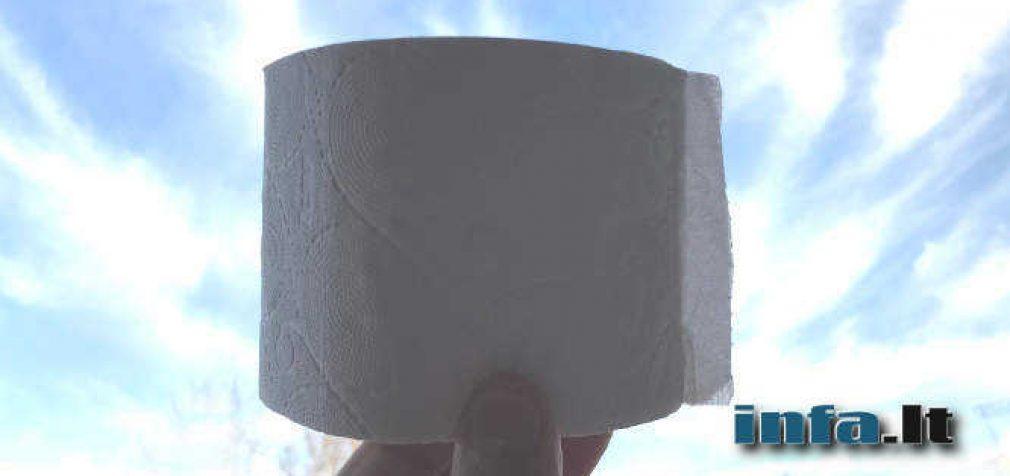 Pasaulis priartėjo prie galimos tualetinio popieriaus tiekimo krizės