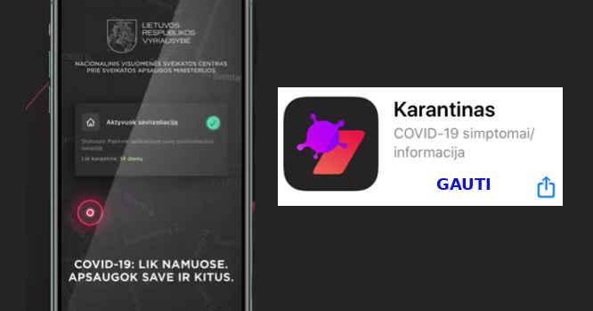 Mobilioji programa - Karantinas