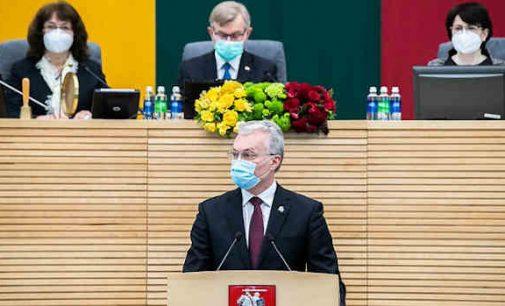 Prezidento Gitano Nausėdos kalba Steigiamojo Seimo ir Lietuvos Respublikos šimtmečio minėjime