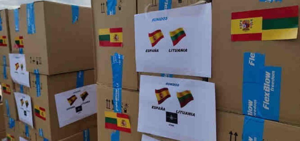 Lietuvos išsiuntė humanitarinę pagalbą Ispanijai