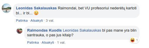 Raimundas Kuodis Facebook tinkle