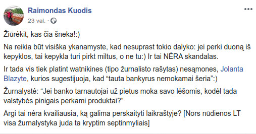 Raimundas Kuodis atsako: