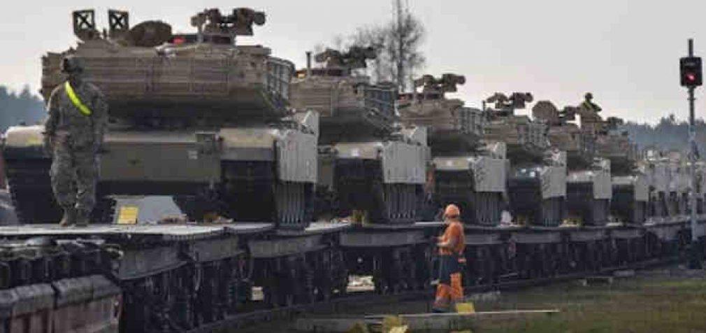 Amerikiečių tankai išvyksta iš Lietuvos
