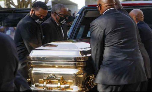 George Floyd laidotovės įvyko Hiustone