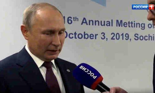 Putinas trimis žodžiais atsakė į klausimą, ar kandidatuos 2024 m