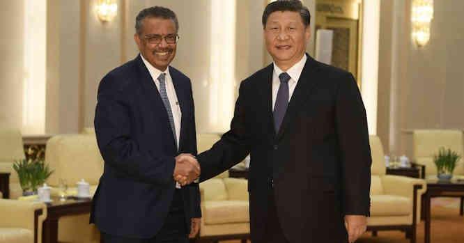 PSO vadovas Tedros A.G. ir Kinijos prezidentas Xi Jinpingas