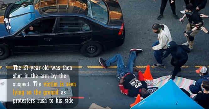 Šaudo iš automobilio į protestuojančius