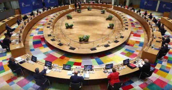 ES aukščiausio lygio susitikimo momentas