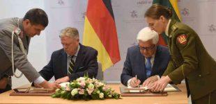 Pasirašytas susitarimas tarp Vokietijos ir Lietuvos, dėl karių buvimo viena kitos teritorijoje