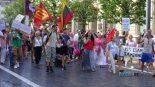 """Vilniuje įvyko visuomenininkų organizuotas renginys-protestas """"Laisvės diena – pandemijai pabaiga!"""""""