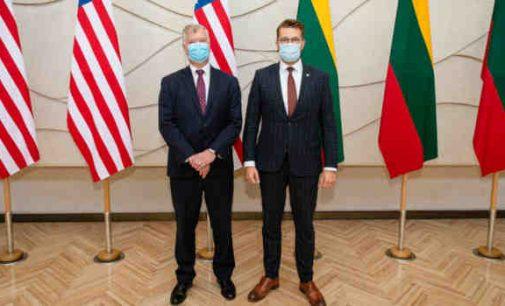 Susitikime su JAV valstybės sekretoriaus pavaduotoju – dėmesys situacijai Baltarusijoje