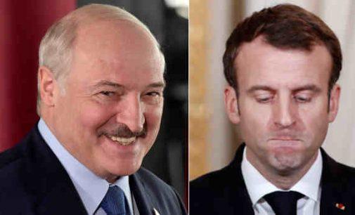 """Lukašenka pasisiūlė Makronui tarpininku tarp jo ir """"Geltonųjų liemenių"""", po pastarojo siūlymo tarpininkauti tarp jo ir opozicijos"""