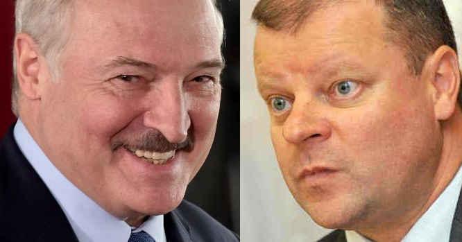 A. Lukašenka ir Saulius Skvernelis