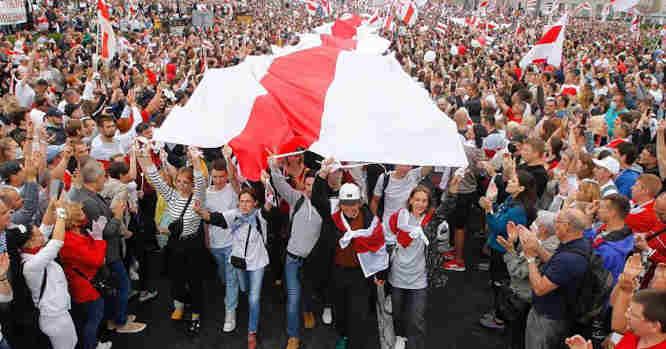 Protesto akcija Minske