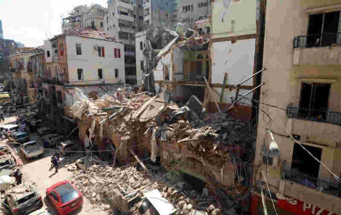 Sugriautas Beirutes