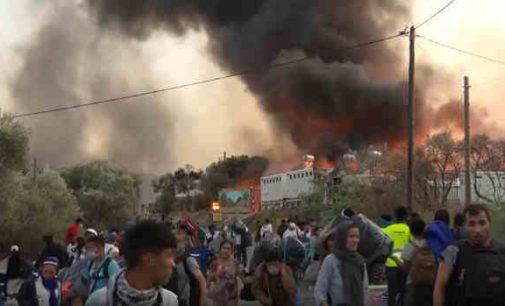 Vokietija priims 1500 migrantų iš sudegusios stovyklos Lesbo saloje