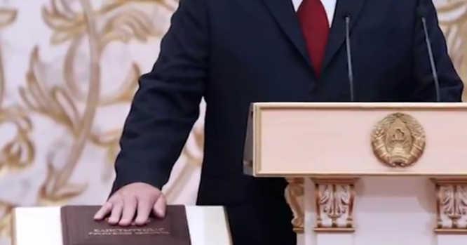 Aleksandras LUkašenka duoda priesaiką