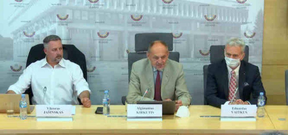 """""""NEABEJINGI piliečiai pristatė Atvirą kreipimąsi į valdžios atstovus"""", – spaudos konferencija Seime"""