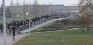 """Baltarusija. Protestuotojai organizavo """"Kaimynų žygį"""""""