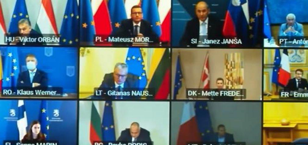 Lenkija ir Vengrija pasinaudojusios veto teise užblokavo ES biudžeto prėmimą