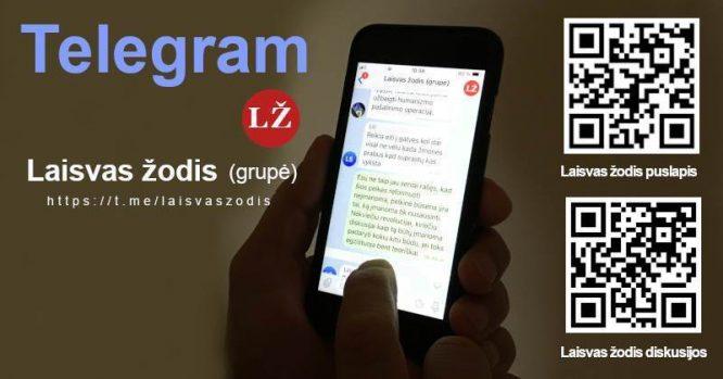Laisvas Žodis - Telegram kanalas ir diskusijų grupė
