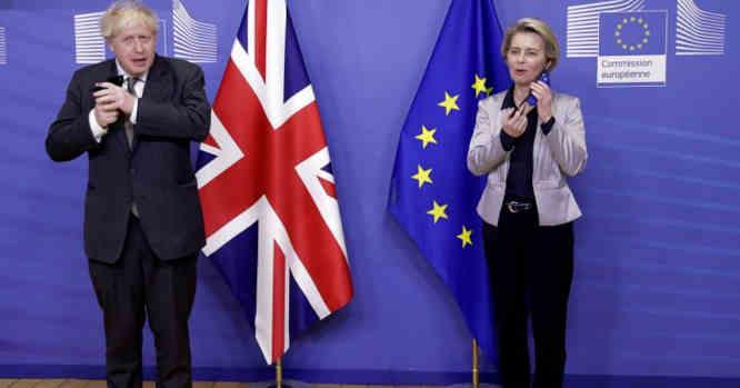 Borisas Johnsonas ir Ursula von der Leyen