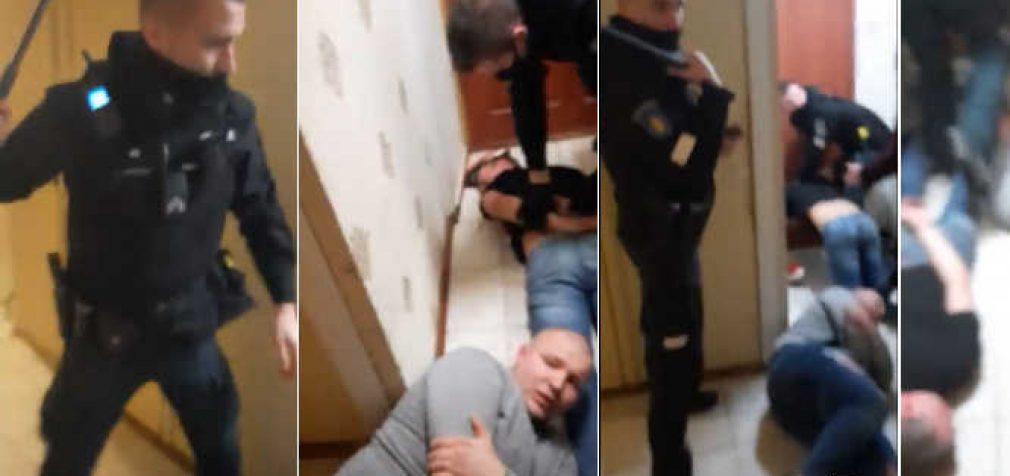 Lietuvos policija, mušanti žmones jų namuose už karantino taisyklių pažeidimą (video)