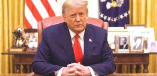 Pranešimų apie suplanuotas demonstracijas fone, Donaldas Trampas ragina amerikiečius taikai