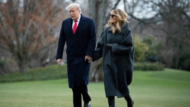 Donaldas Trampas su žmona Melania